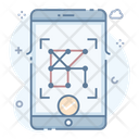 Pattern Lock Protection Mobile Security Icon