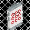 Pattern Lock Security Lock Biometric Icon