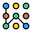 Security Pattern Lock Icon