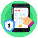 Mobile Security Pattern Lock Phone Pattern Icon
