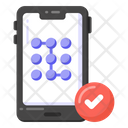 Phone Pattern Verified Pattern Lock Mobile Protection Icon