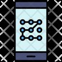 Pattern Lock Password Mobile Icon