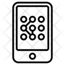Pattern Lock Unlock Security Icon