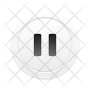 Pause Skeuomorph Multimedia Icon