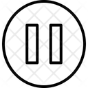 Multimedia Line Music Stop Icon
