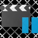 Clapper Pause Clip Icon