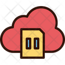 Pause Cloud Music Icon