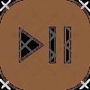 Pause Forward Button Square Icon