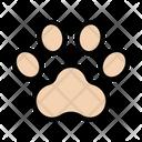 Paw Footprint Animal Icon