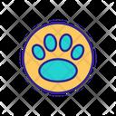 Paw Footprint Icon