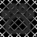 Paw Print Paw Emoji Icon