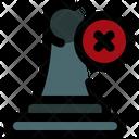 Delete Pawn Tactic Icon