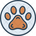Pawprint Veterinarian Animal Foot Pet Paw Care Icon