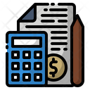 Bill Invoice Calculator Icon