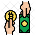 Transection Pay Bitcoin Icon