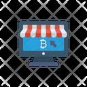 Pay Per Click E Commerce Bitcoin Icon