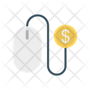 Pay Per Click Online Dollar Icon
