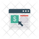 Pay Per Click Online Web Page Icon
