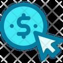 Pay Per Click Coin Ppc Icon