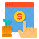 Pay Per Click Cost Hand Icon