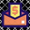 Paycheck Salary Envelope Icon