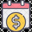 Payday Calendar Money Icon