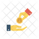 Paying Bitcoin Hand Icon