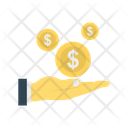 Paying Dollar Coins Icon