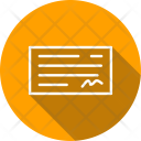 Payment Banking Cheque Icon