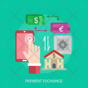 Payment Exchange Home Icon