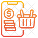 Online Shopping Payment Basket Icon