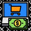 Cart Laptop Screen Icon