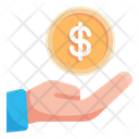 Payment Hand Coin Icon