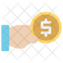 Coin Hand Pick Icon