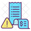 Payment Alert Warning Payment Alert Bill Alert Icon