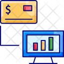 Electronic Businessm Payment Anaysis Credit Card Icon