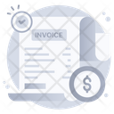 Verify Payment Approved Bill Check Invoice Icon
