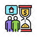 Time Payment Mortgage Icon