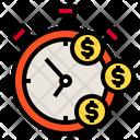 Stopwatch Money Time Icon