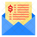 Payment Mail Payment Receipt Mail Icon