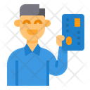 Payment Method Credit Card Man Icon