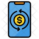Money Exchange Smartphone Icon