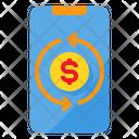 Money Exchange Smartphone Icon