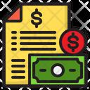 File Receipt Bill Icon