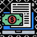 Laptop File Money Icon