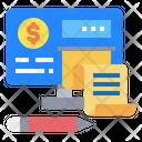 Monitor Money Invoice Icon