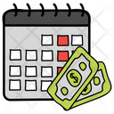 Installment Payment Schedule Payday Icon