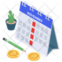 Payment Schedule Payment Timetable Payday Icon