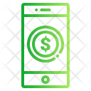 Payment through phone Icon