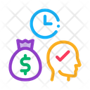 Time Earn Money Icon